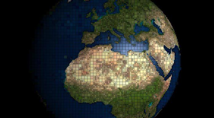 Terre centré Afrique